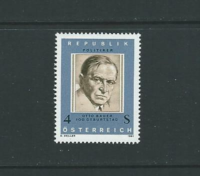 1981 AUSTRIA Birth Centenary Otto Bauer (Scott 1186) MNH