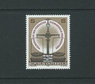 1981 AUSTRIA World Congress Intnl. Pharmaceutical Federation (Scott 1185) MNH