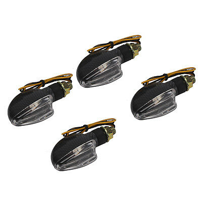 NEW 4x Spear Black Bulb Indicators Front & Rear  Clear Motorcycle lights Lens