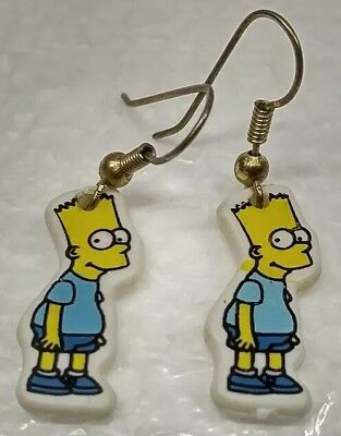 Vintage 1990 20th Century Fox The Simpsons Bart Simpson Pair of Earrings Jewelry