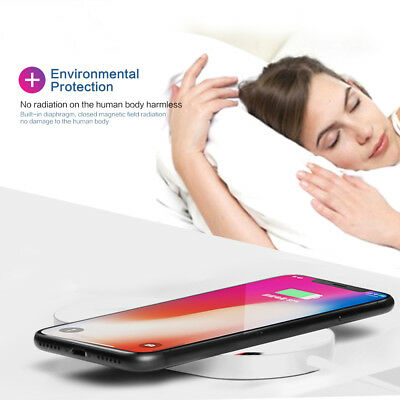 2 In 1 Wireless Fast Charging Pad Qi Charger Station For Apple Watch iPhone 8