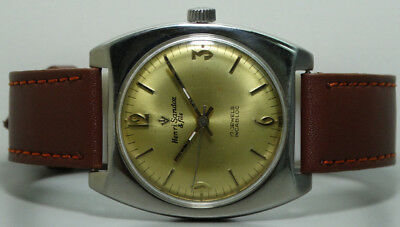 Superb Vintage Henri Sandoz Winding Swiss Wrist Watch Old s879 Used Antique