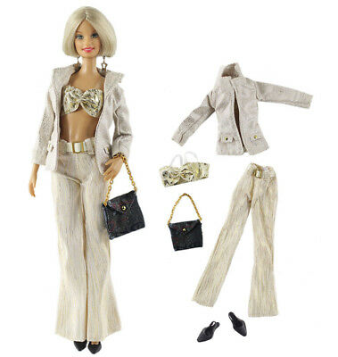 1 Set Fashion Handmade Doll Clothes Outfit for Barbie Doll L20