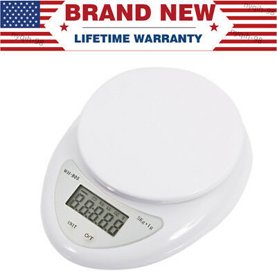 US 5kg/1g Digital Electronic Kitchen Food Diet Postal Scale Weight Balance