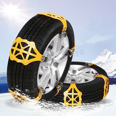 Winter Car Snow Chain Black Thickened Anti-skid Buckle Beef Tendon Wheel Chains