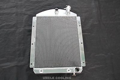 3 ROW Aluminum Radiator /& Fan for 1941-1946 Chevy Pickup Truck 42 43 44 45