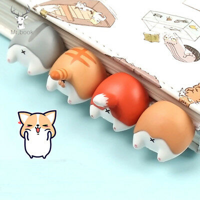 1PC Lovely Cartoon Dog Cat Hamster Fox Ass Bookmarks Novelty Book Reading Gift.