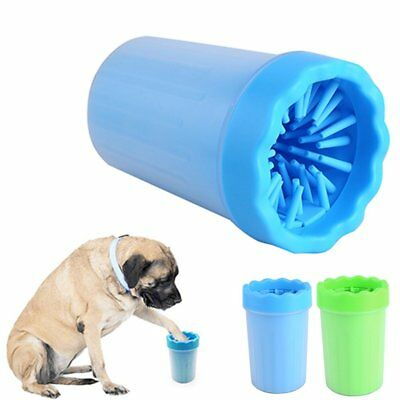 Silicone Pet Washer Cup Dog Puppy Cat Kitten Foot Paws Muddy Brush Wash Tool L