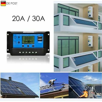 20A/30A Digital LCD Solar Regler USB Laderegler Controller Regulator 12V-24V