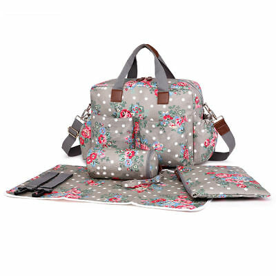 4Pcs  Mat Diaper Wipe Clean Maternity Baby Nappy Mummy Changing Bag Flower Print