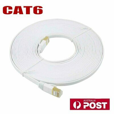 10-50M High Speed CAT6 Ethernet Network LAN Cable Flat Shielded Cable Patch Lead
