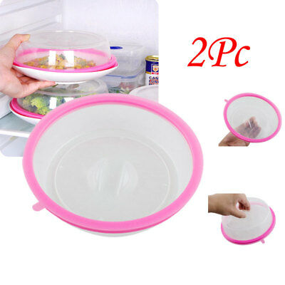 2Pc Plate Topper Universal Leftover Lid Microwave Cover Airtight Home Use FDA CE
