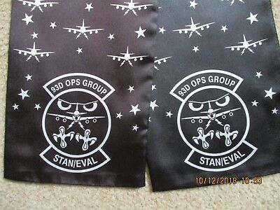 Original Air Force Squadron Pilot Scarf Usaf 93 Ops Group Og Stan-Eval E-8 1996
