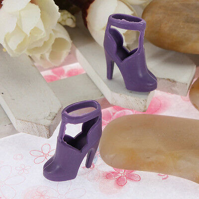10 pairs of  Shoes Toy Doll Princess Clothes High Heel Sandals AU