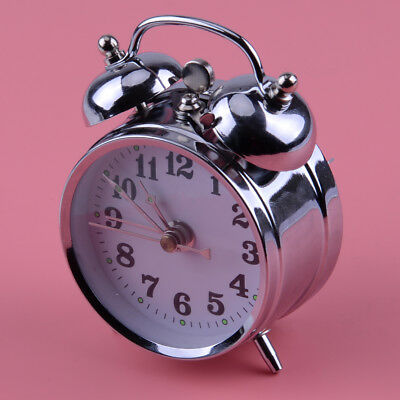 Vintage Style Mechanical Alarm Clock Manual Wind Up Metal Clock Double Bell Gift