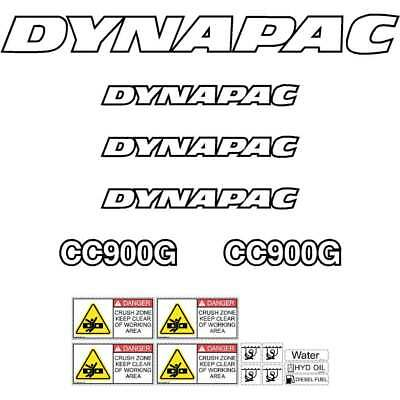 Dynapac CC900G Decals Stickers Repro Kit Vibrating Roller