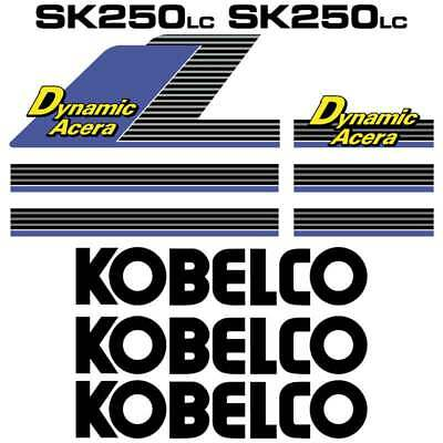 Kobelco SK250LC Decals Stickers New Repro Kobelco Decal Kit