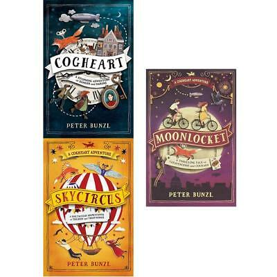 The Cogheart Adventure Series Collection 3 Books Set By Peter Bunzl, Skycircus..