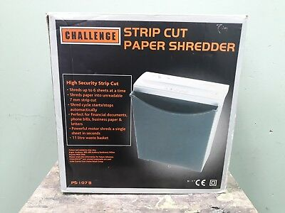 Challenge Strip Cut Paper Shredder - working with manual. 6D