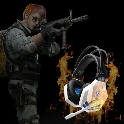 3.5mm Gaming Headset MIC LED Headphones for PC Mac Laptop PS4 Slim Xbox One AB