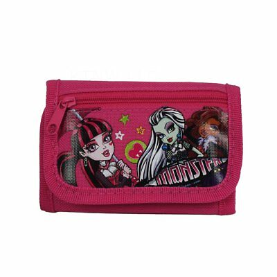 New Monster High Pink Kids Tri-Fold Wallet Coin Purse Bag AMAZING GIFT