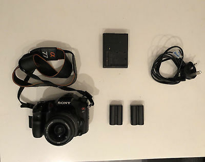 Sony Alpha SLT-A77V 24.3MP Digital SLR Camera - Black w/ 18-55 SAM Lens