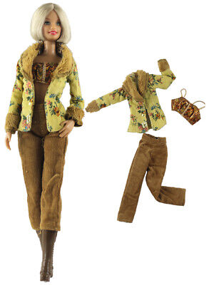 1 Set Fashion Handmade Doll Clothes Outfit for Barbie Doll L26