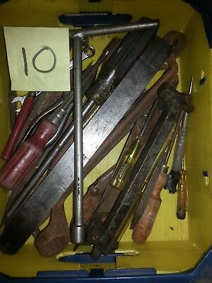 Assortment Of Various Vintage Workshop Tools Well Worth A Look.