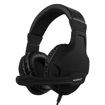 NUBWO U3 3.5mm Stereo Gaming Headphones On Ear Headset with Microphone For T0E0