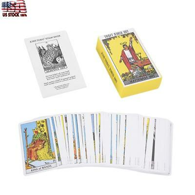 78pcs Rider Waite Tarot Future Telling Game Card Set with Colorful Box