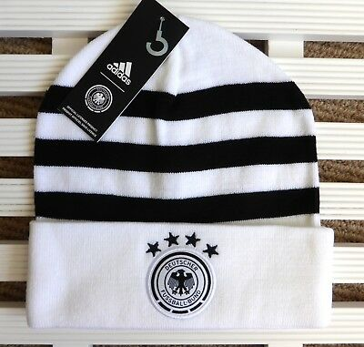 GERMANY Adidas 3S Official Football BEANIE Toque Hat OSFM Adult Soccer Tag db503d1e713f