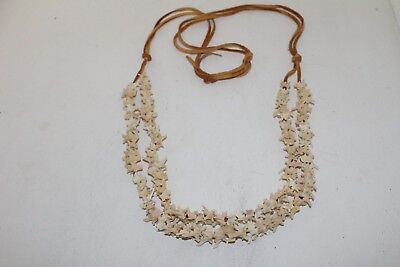 Rattlesnake vertebrae necklace,  v485 .. , ....Mountain Man Necklace...... Repli