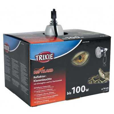 lampe pince reflecteur + grille + protection + thermo socket pro trixie reptile