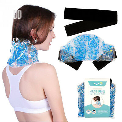 Zhu-Zhu Multi-Purpose Hot & Cold Pack Therapeutic Gel Beads - Neck, Joint,...