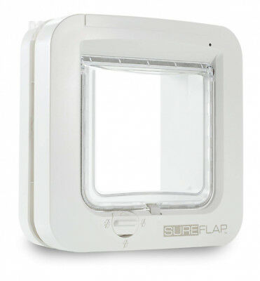 SureFlap Cat Flap with Microchip Identification, White, 21 x 21 cm
