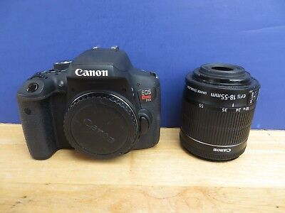 Canon EOS Rebel T6i Camera 24.2mp + Canon EF-S 18-55mm IS STM  Zoom Lens