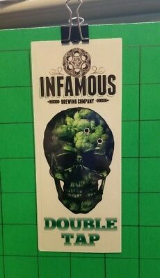 Infamous Brewing - Tap Handle Sticker - Double Tap IPA