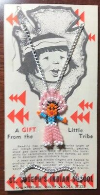 Vintage Souvenir St Joseph's School Beaded Dancer - South Dakota Tribe