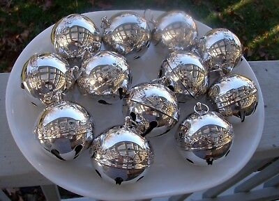 Lot Of 13 Wallace Silverplate Annual Christmas Bell Ornaments