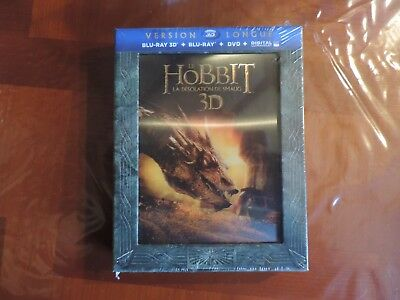 Le Hobbit: La désolation de Smaug Neuf [Version longue Blu-ray 3D+Blu-ray+DVD]