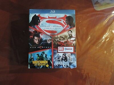 COFFRET  BLU-RAY 5 films d'action Neuf sous blister. BATMAN / SUPERMAN , 300 etc