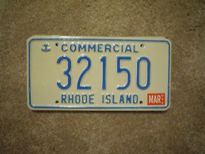 Rhode Island Ancor Cmmcl 96      License Plate    Buy All States Here