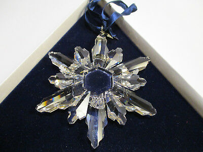 Swarovski Crystal 1998 Christmas Ornament Snowflake Star -  Mint, Box, COA