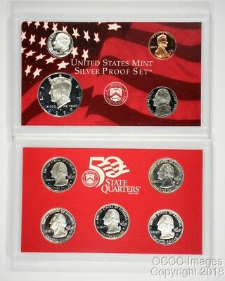 No Stickers or Writing 2002 San Francisco Silver Proof Set OGP Packaging