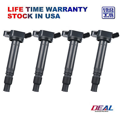 DEAL 4pcs New Ignition Coil on Plug Pack w/ Boot For Lexus Scion Toyota L4 V6 V8