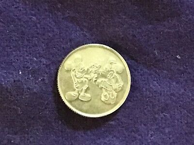 Vintage Disney Gold 10K Mickey Mouse & Minnie Mouse Love coin.