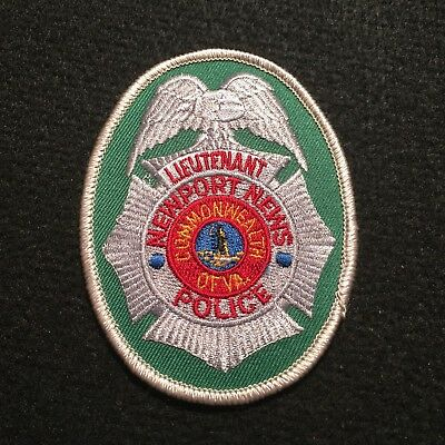 Commonwealth Of Virgina Newport News Police Patch - Lieutenant - SILVER Boarder