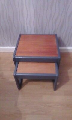 VINTAGE RETRO 60s/70s G Plan Style Nest 2 Side Occasional Coffee Tables