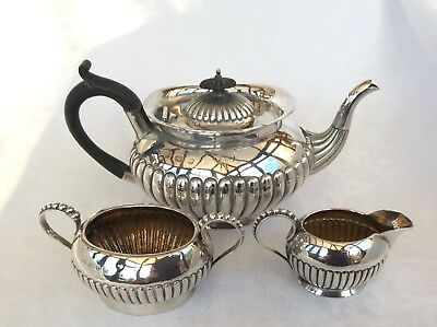 Victorian Solid Silver Bachelor Tea Set