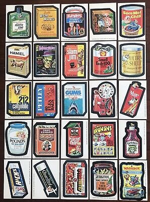 1975 Topps Wacky Packages Original 15th Series (25) Stickers and Puzzle